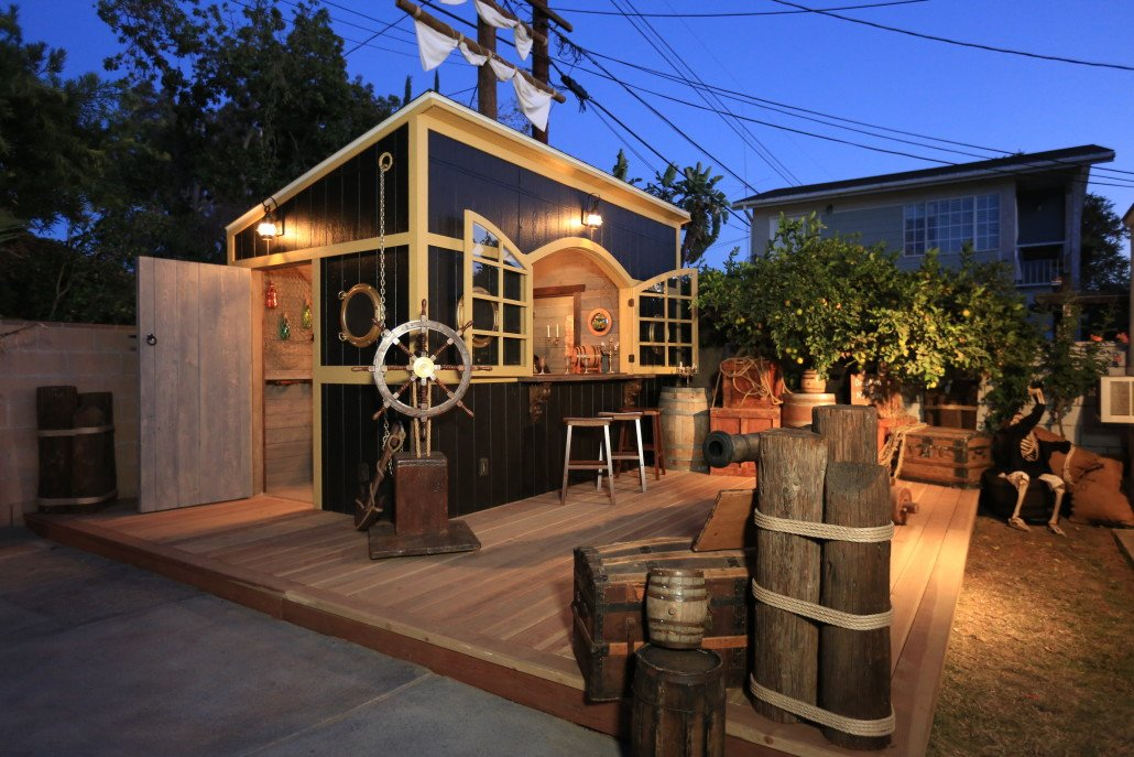 Over In Austin TX Homeowner And Hostess Erin Was Envisioning A Tiki Themed Backyard Party Zone Her New Tuff Shed Building The Perfect Starting Point
