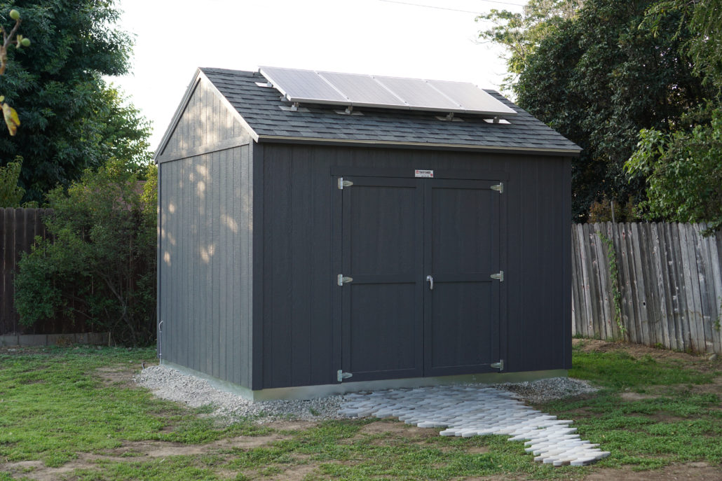 the exterior of the tr800 tuff shed workshop